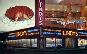 Lindy's Deli in New York, where the Lindy Effect was conceived.